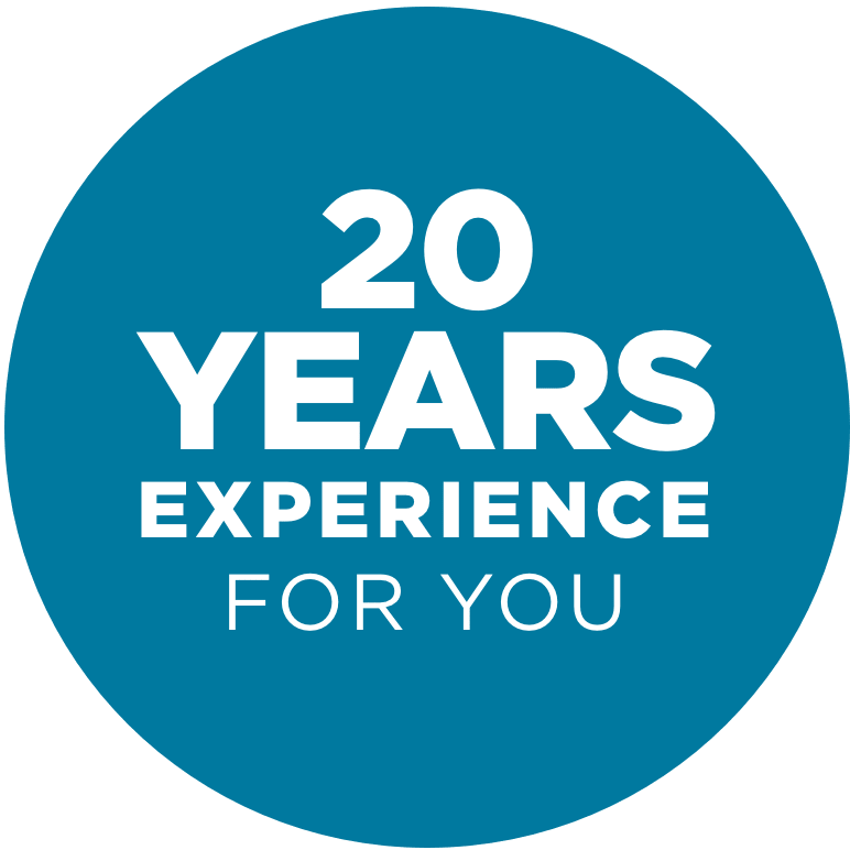 20 years of experience – 20 years of experience